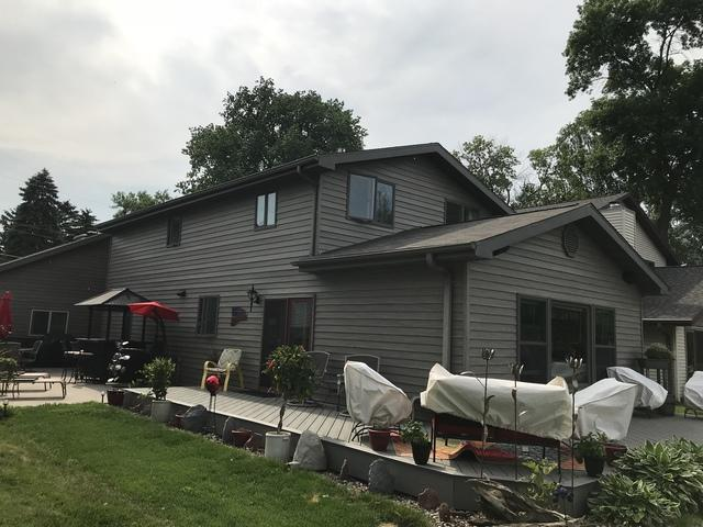 LeafGuard installed on lake home in Neenah, Wisconsin