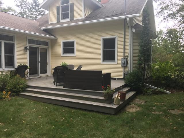 LeafGuard gutters installed on home in Sister Bay, Wisconsin