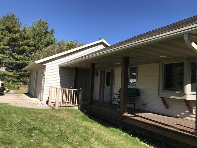 LeafGuard gutters installed on home in Maribel, Wisconsin