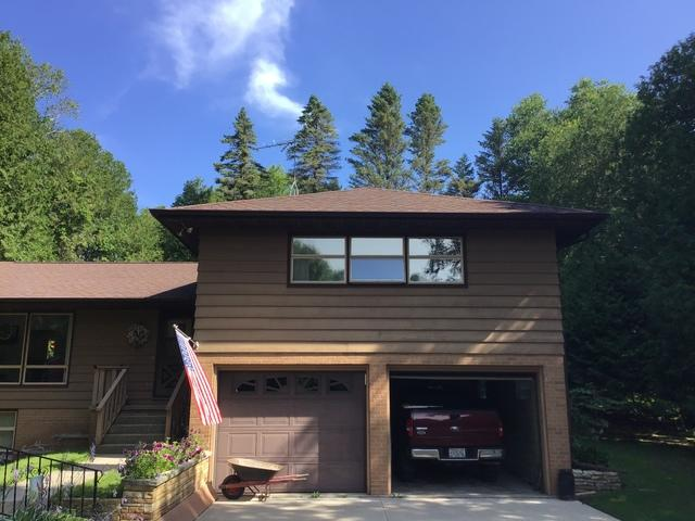 LeafGuard gutters installed on home in Mishicot, Wisconsin