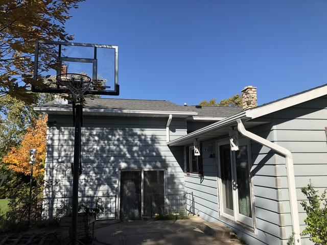 LeafGuard gutters installed on home in Maribel, Wisconsin