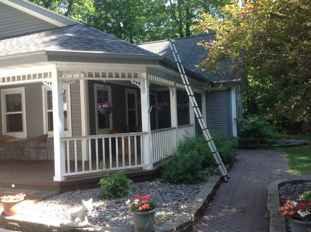 LeafGuard gutters installed on home in Plymouth, Wisconsin