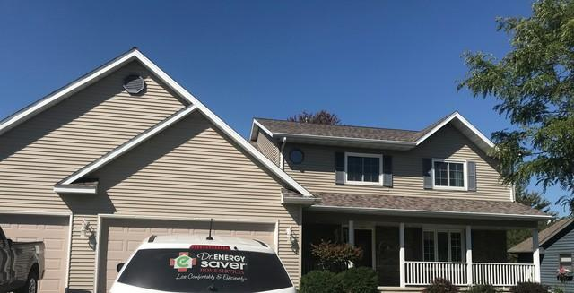 LeafGuard gutters installed on home in Fond Du Lac, Wisconsin