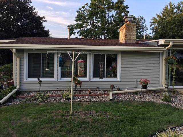LeafGuard gutters installed on home in Oshkosh, Wisconsin