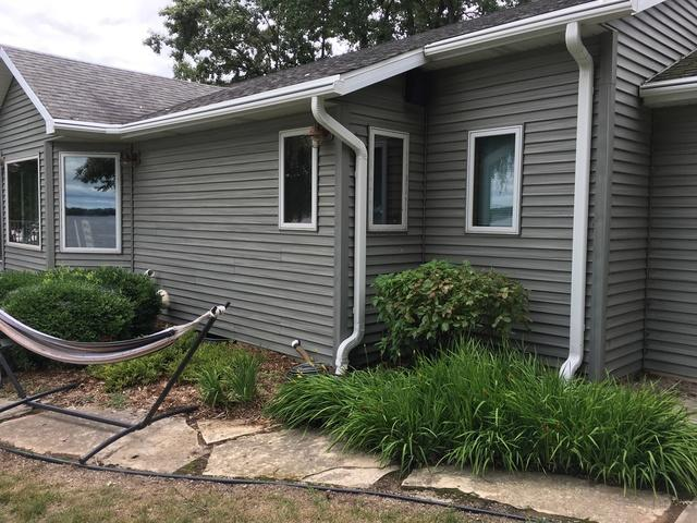 LeafGuard gutters installed on home in Sturgeon Bay, Wisconsin