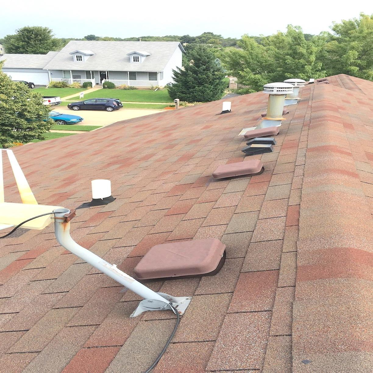 Belvidere, IL Roofing Replacement in Burnt Sienna - Before Photo
