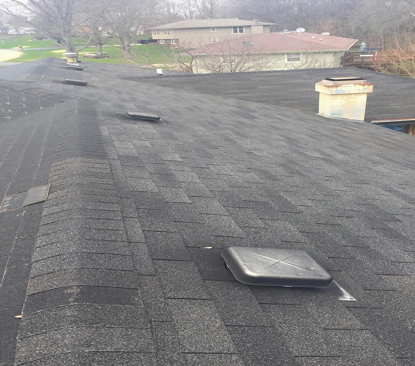 New Roof Installation in Roscoe, IL - Before Photo