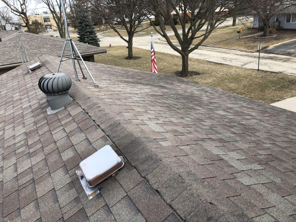 Shingle and Decking Replacement in Harvard, IL - Before Photo