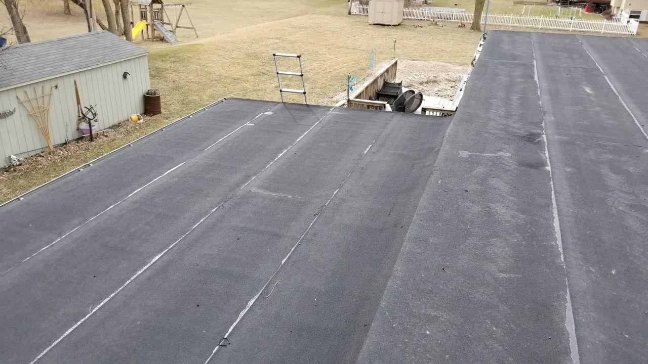 Emergency Flat Roof Replacement in Machesney Park, IL - After Photo