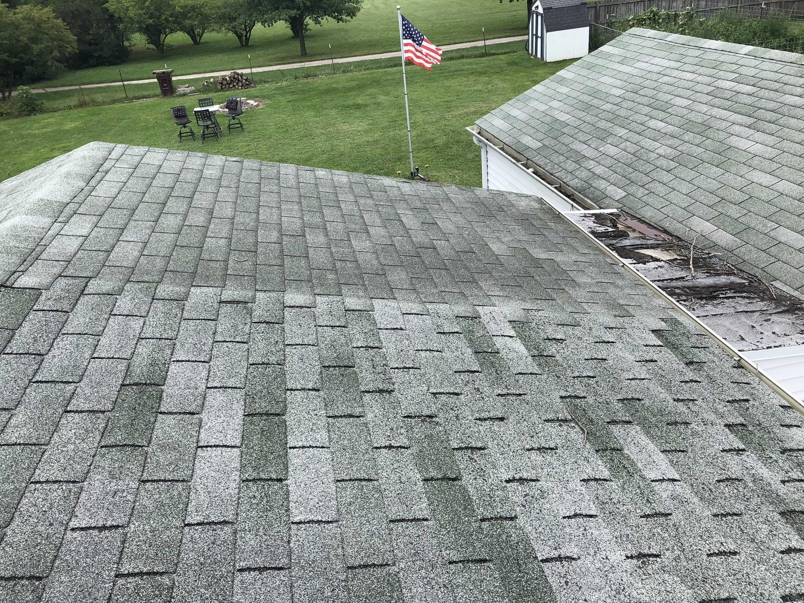 Roof and Breezeway Replacement in Belvidere, IL - Before Photo