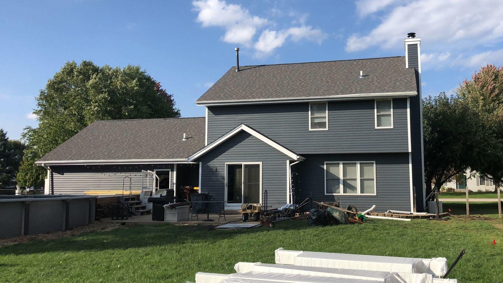 Natural Slate Siding in Machesney Park, IL - After Photo
