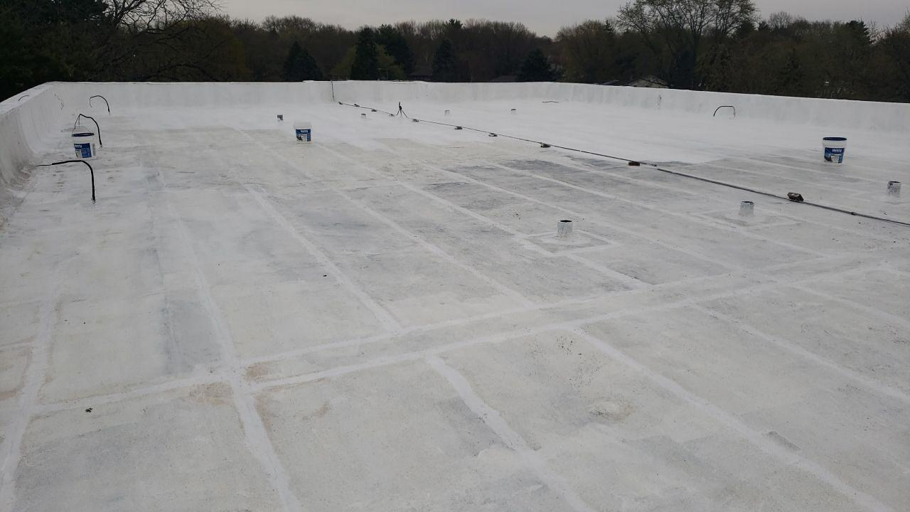 Flat Roof Coating in Rockford, IL - After Photo
