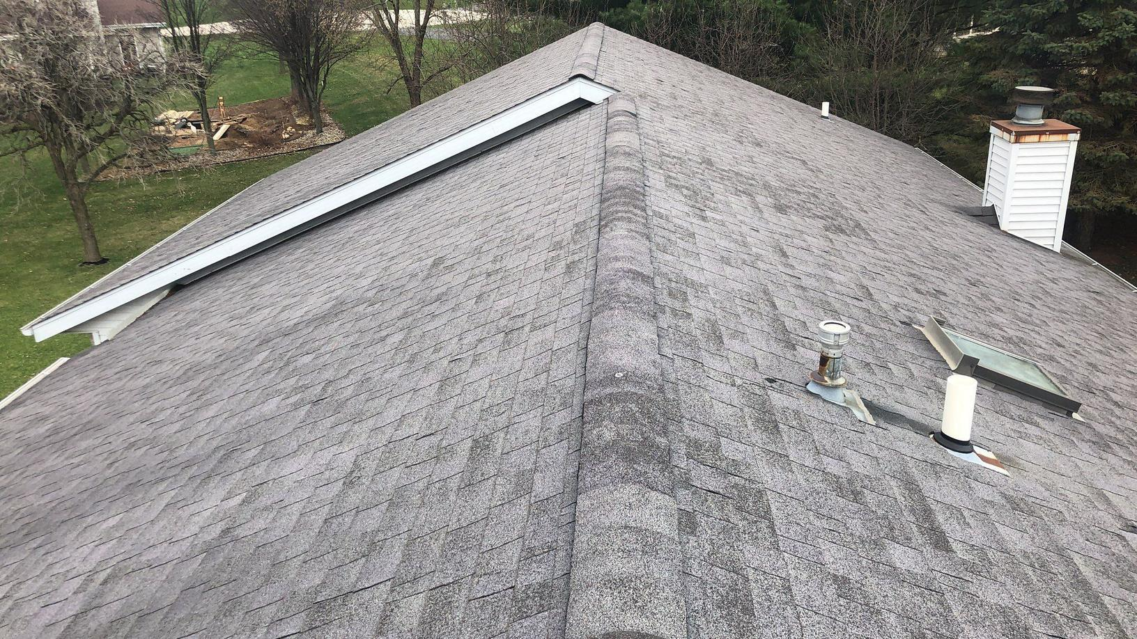Atlantic Blue Roof Replacement in Roscoe, IL - Before Photo