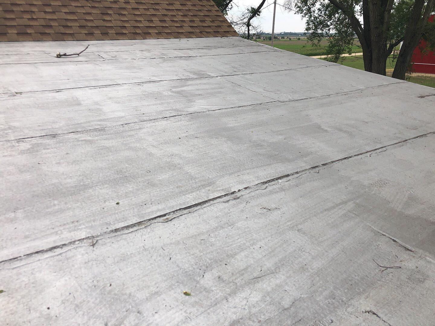 Residential Flat Roof Replacement in Rochelle, IL - Before Photo