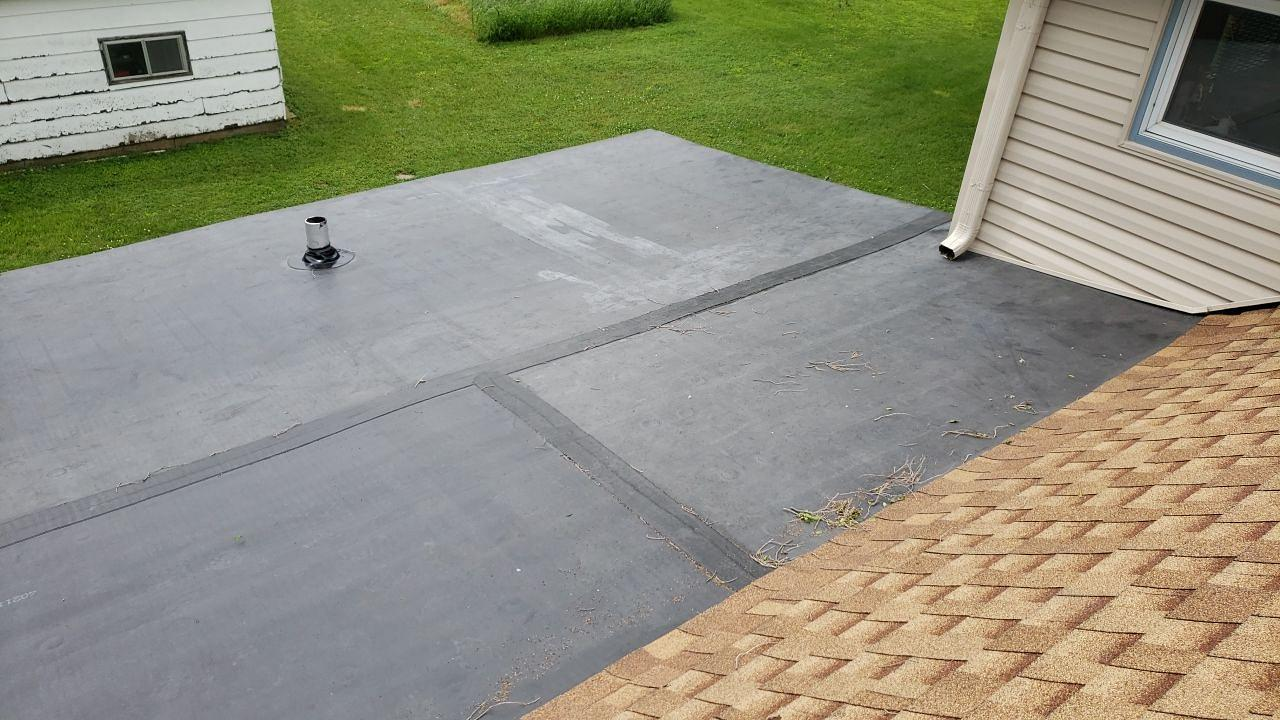 Residential Flat Roof Replacement in Rochelle, IL - After Photo