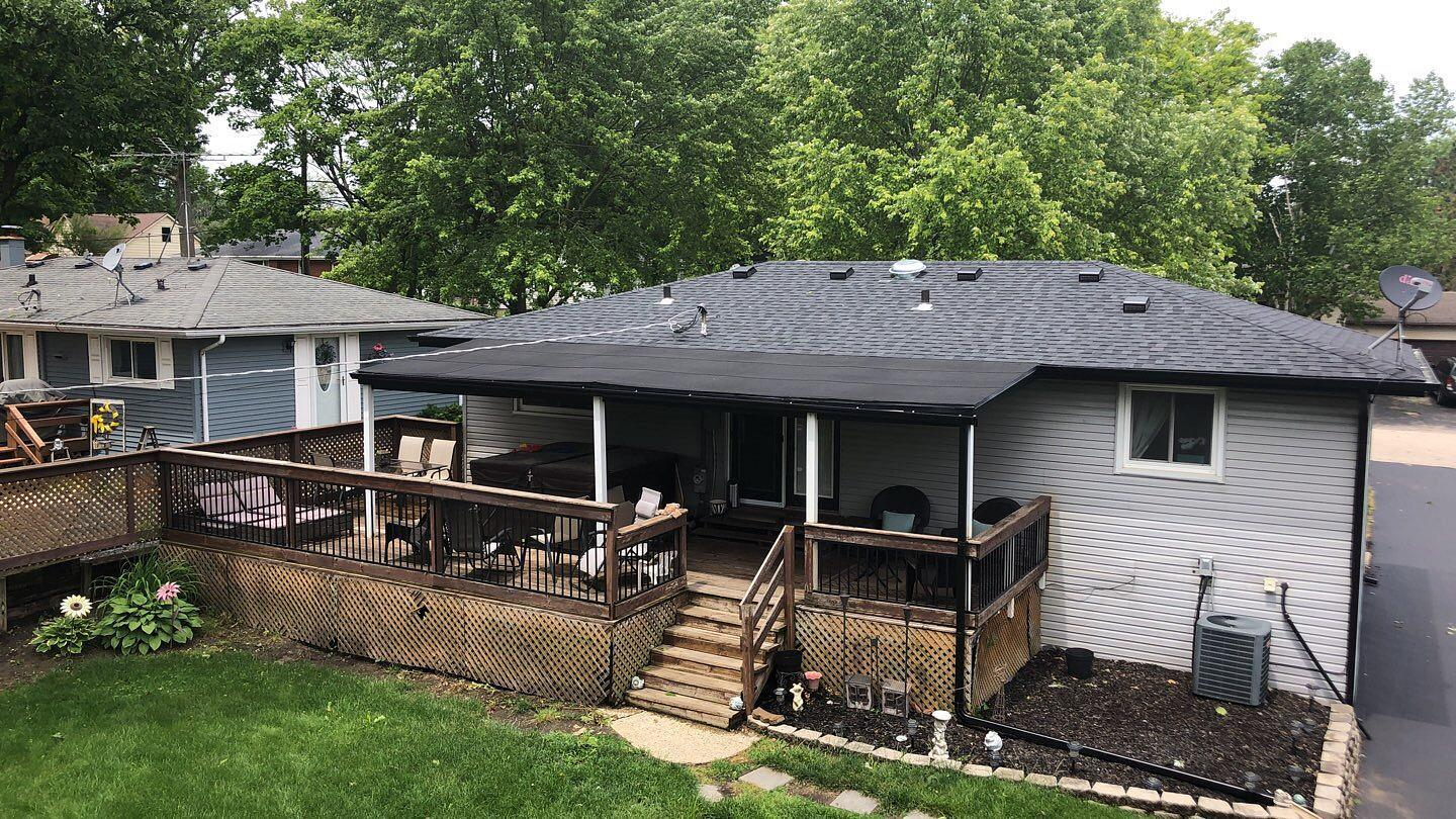 Flat & Shingle Roof Replacement in Poplar Grove, IL - After Photo