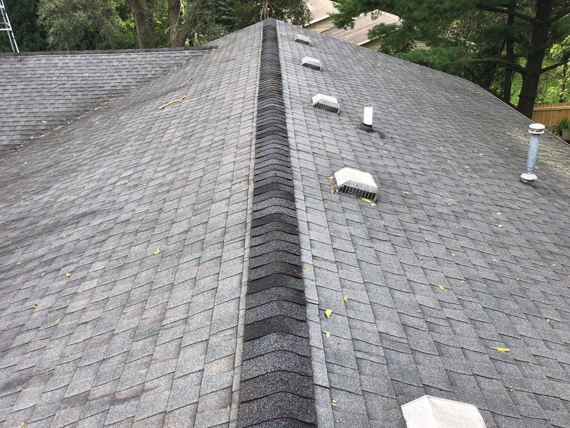 2 Layers of Roof Removed Colonial Slate in North Bloomfield, WI - Before Photo