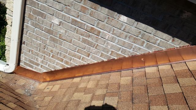 Copper Wall Flashing Installation in Belvidere, IL