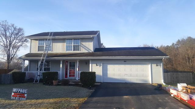 Red Metal Roof Installation in Machesney Park, IL