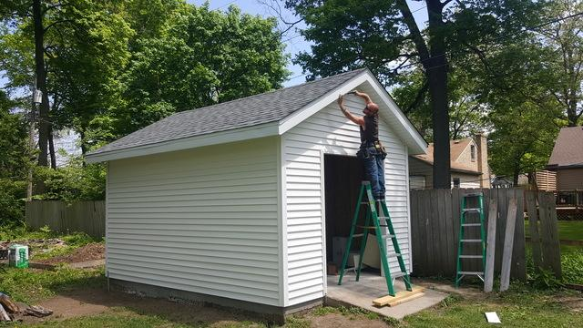 Shed Construction in Rockford, IL - After Photo