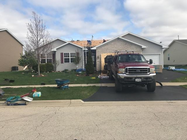 Roof Replacement due to Wind Damage in Loves Park, IL