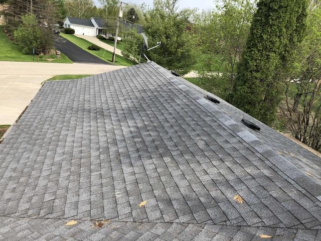 Hail Damage Roof Replacement in Antioch, IL - Before Photo