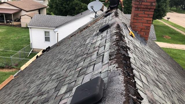 Replacement of a Two Layer Cedar and Shingle Roof with CertainTeed Shingles in Winnebago, IL