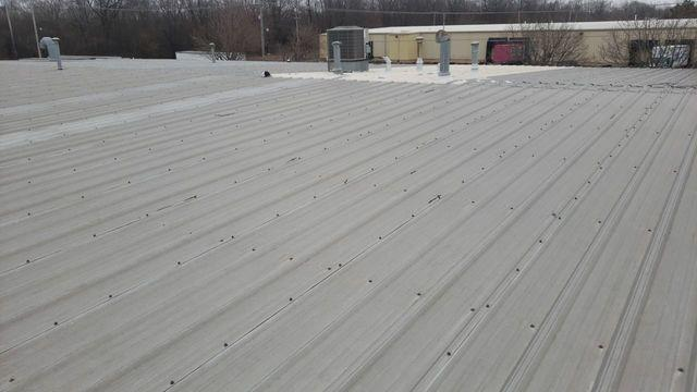Commercial Roof in Rockford, IL - Before Photo