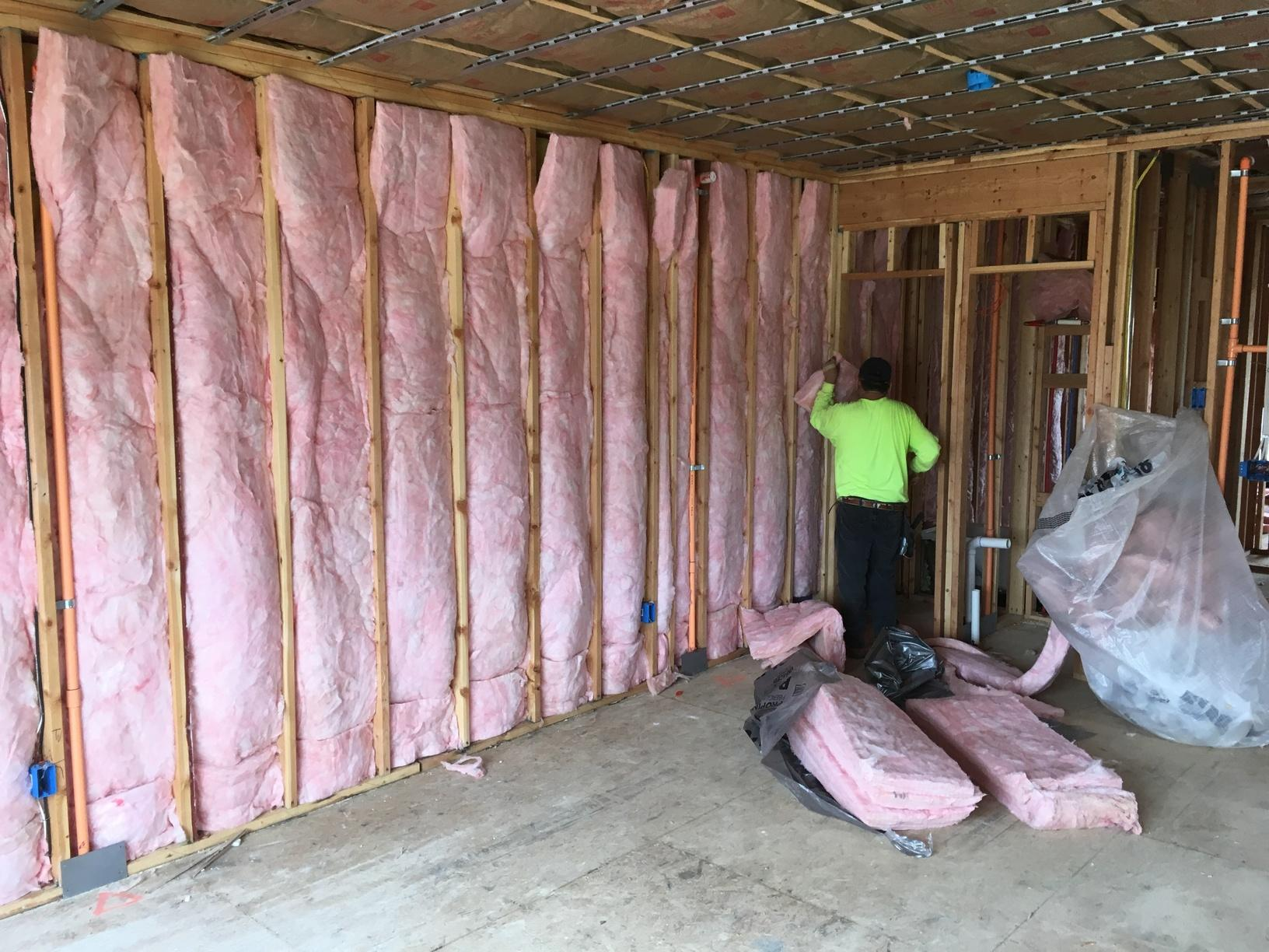 Walls Between Town Homes Still Need Insulation! - After Photo
