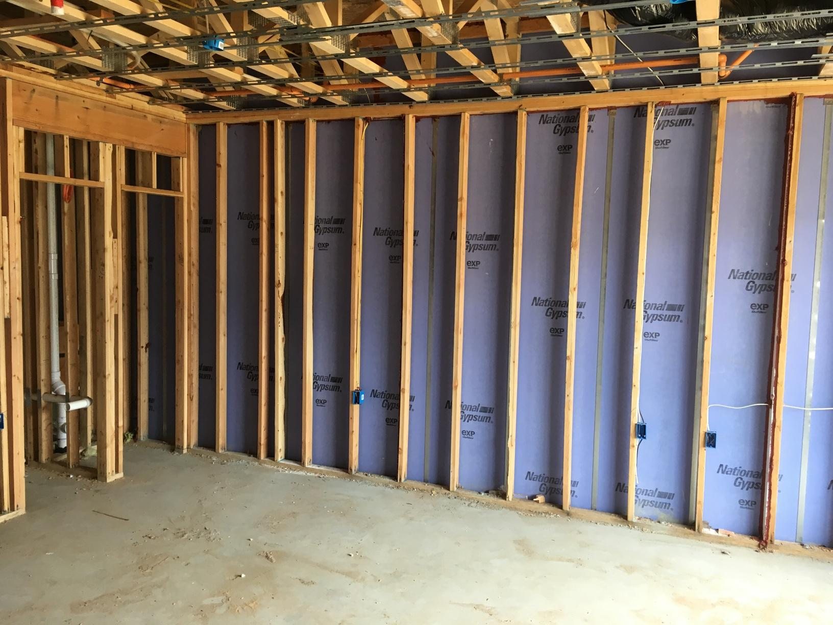 Walls Between Town Homes Still Need Insulation! - Before Photo