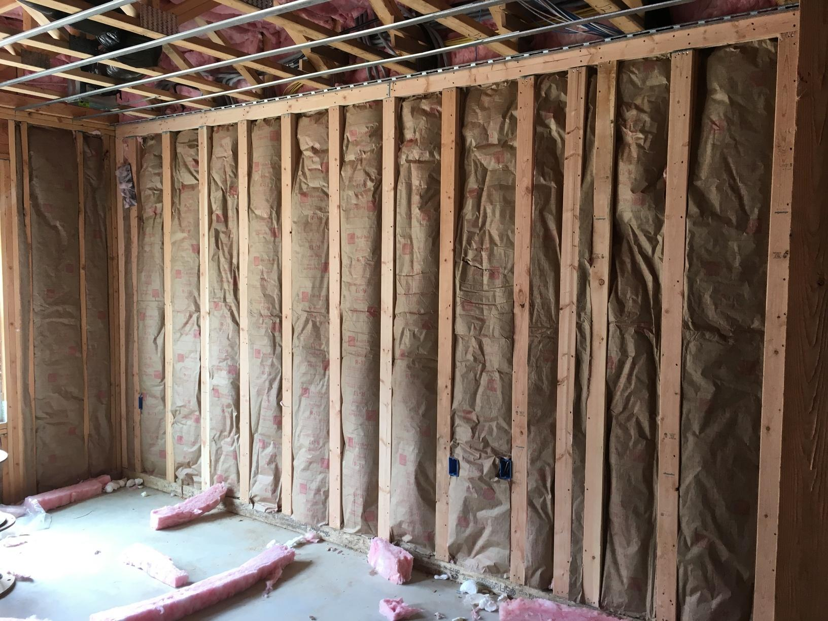 Fiberglass Insulation on a Common Wall in Jackson, NJ - After Photo