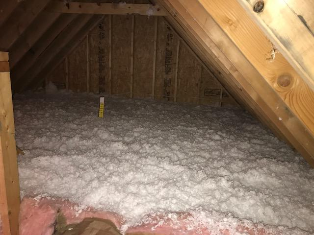 Freehold before and after blown in insulation project - After Photo