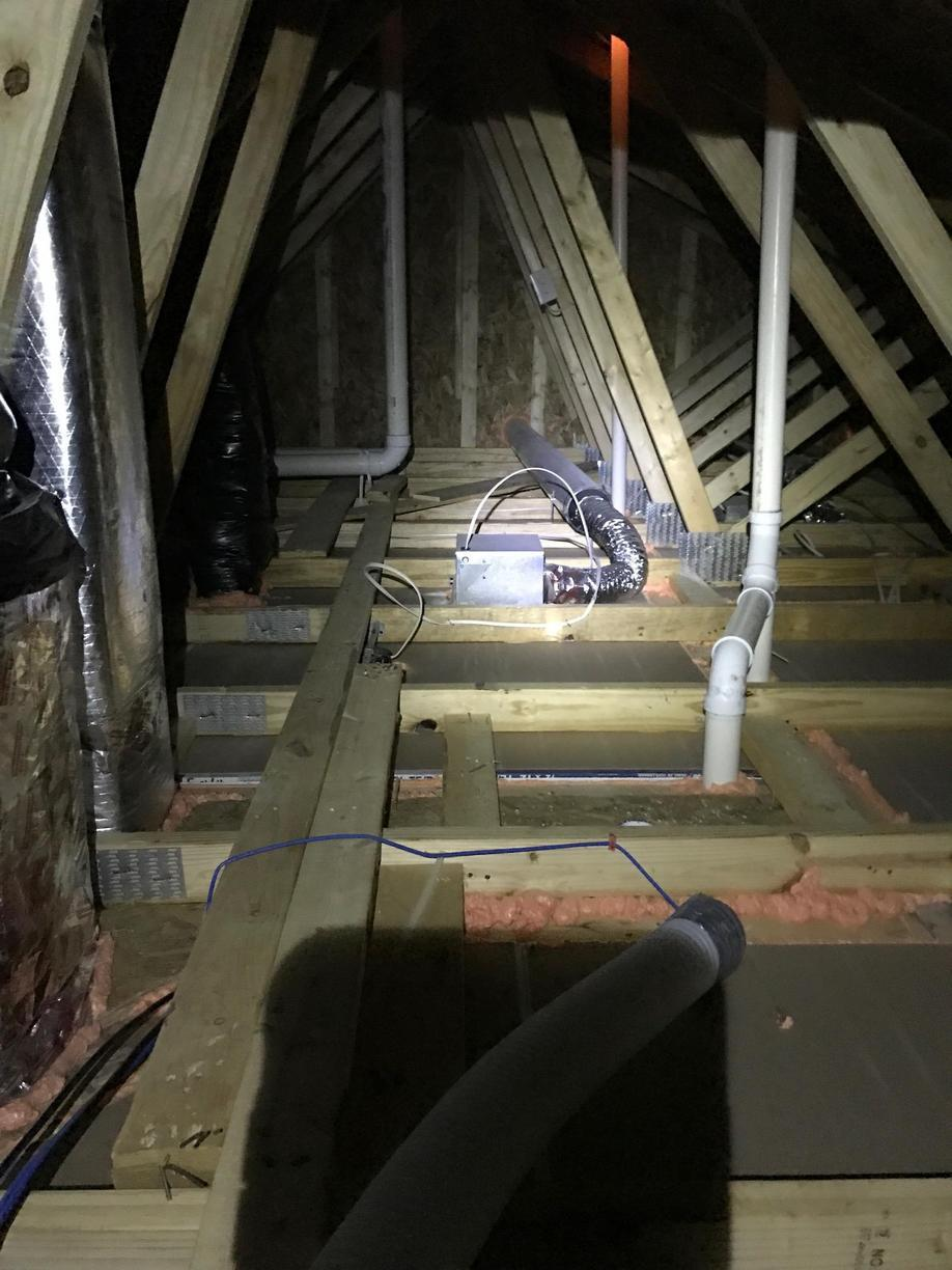 Manchester NJ Air Seal and Blown In Insulation Project - Before Photo
