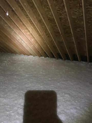 Millstone Township Blown Insulation Project before and after