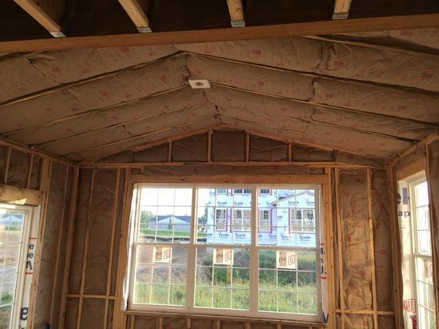 Vaulted ceilings are no problem!!! - Before Photo