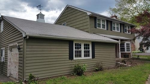 Ivyland, PA Roof and Siding Replacement - Before Photo