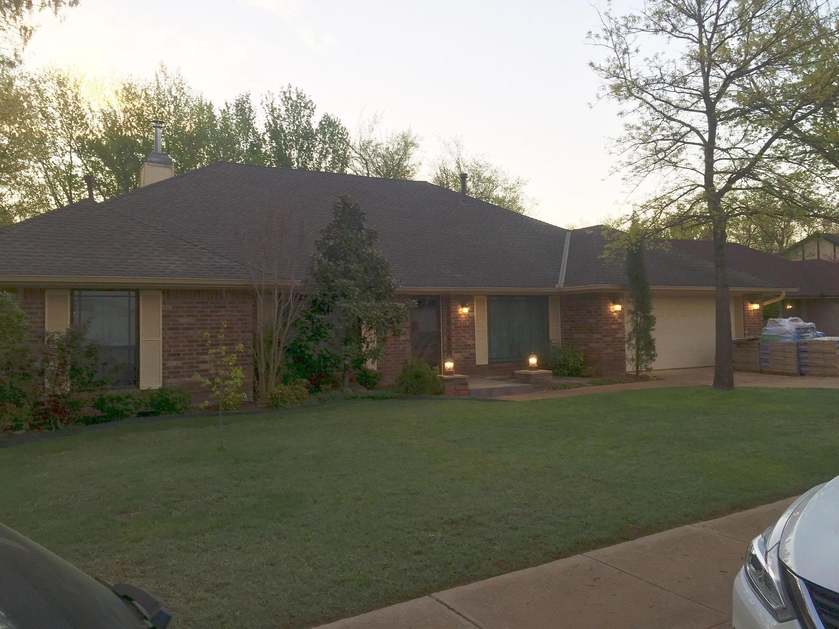 Brand New Roof and Gutters in Edmond, OK - Before Photo