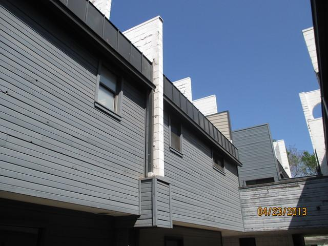 Siding Installation in OKC Condominium - Before Photo