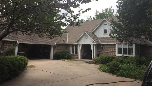 Roof Replacement in Edmond, OK - Before Photo