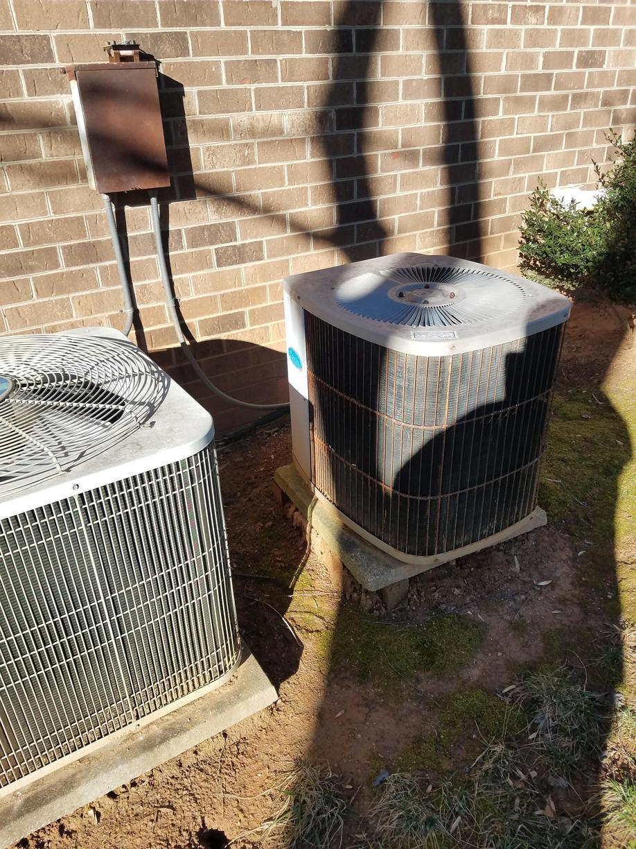 Installation of a High Efficiency Air Conditioner in Winston Salem, NC  27104 - Before Photo