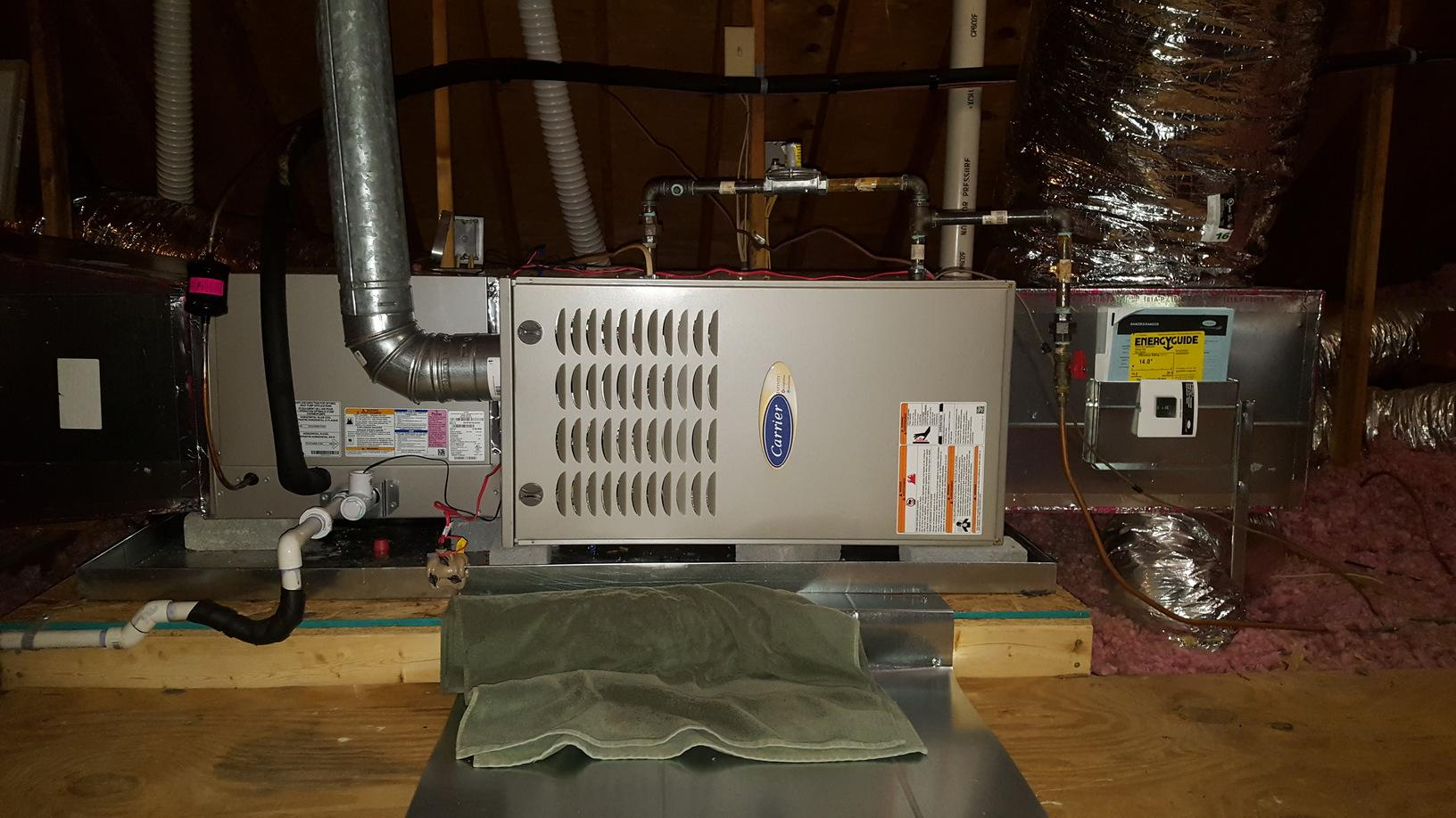 Carrier Gas Furnace Replacement in Lewisville, NC - After Photo