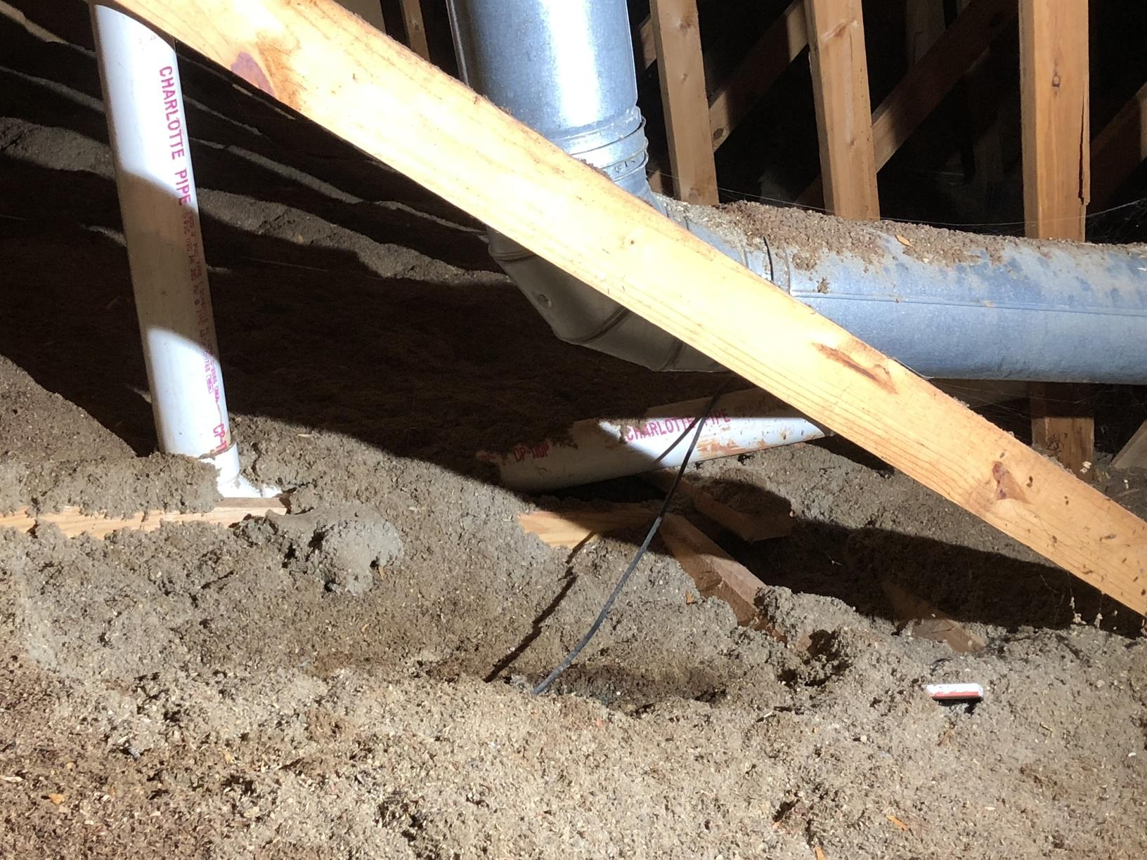 Attic Insulation Upgrade Winston-Salem - Before Photo