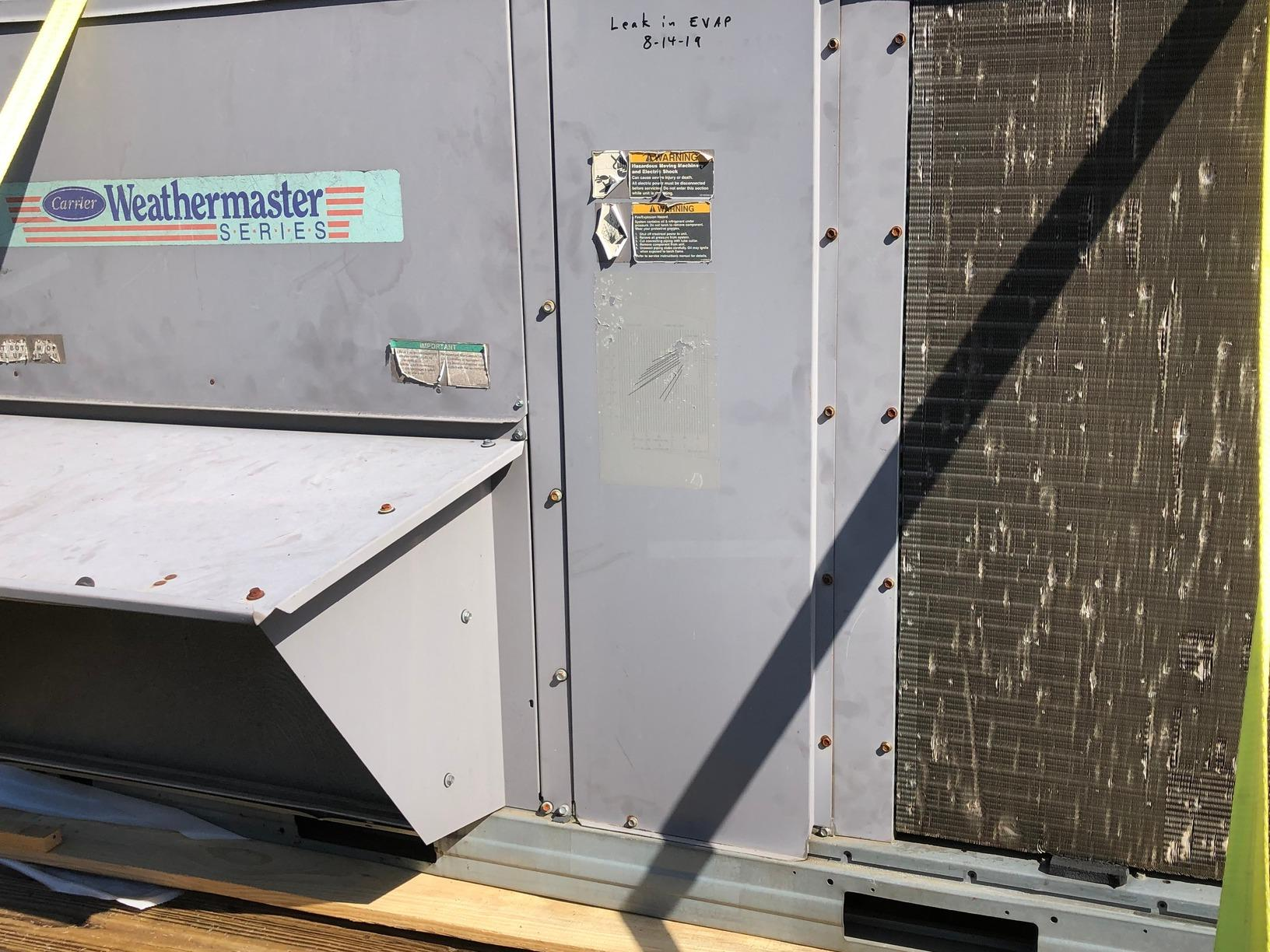 Mooresville Commercial HVAC Install - Before Photo