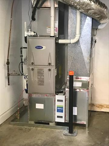 Installation of Carrier High Efficiency Gas Furnace in Winston Salem, NC
