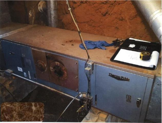 Oil Furnace Replacement in East Bend, NC - Before Photo