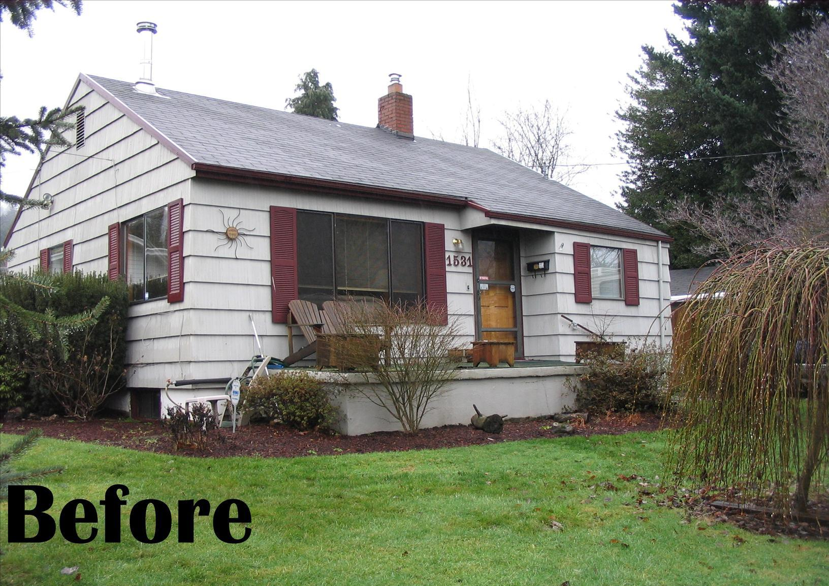 Portland, OR - Exterior Painting and Deck with Patio Cover in Portland, OR - Before Photo