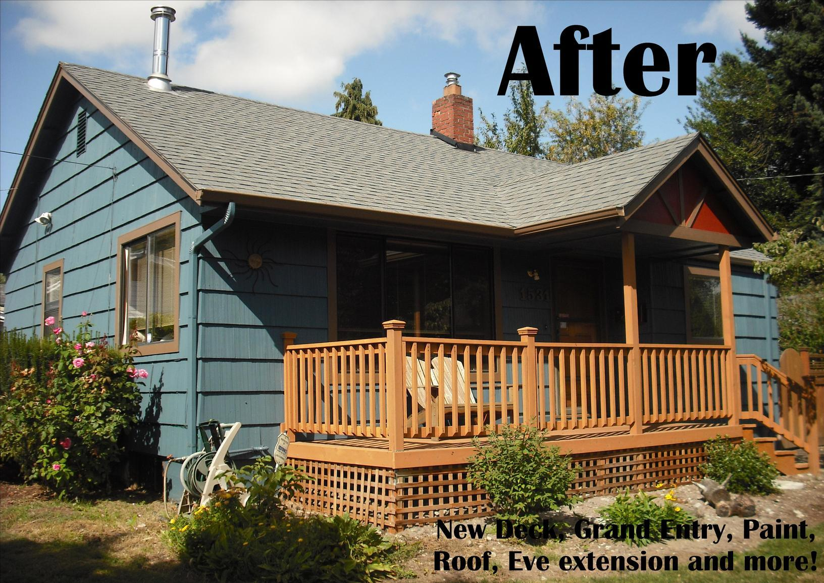 Portland, OR - Exterior Painting and Deck with Patio Cover in Portland, OR - After Photo