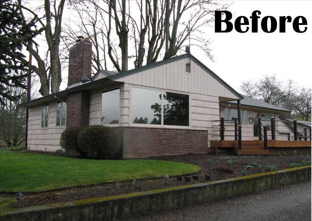 Fiber Cement Siding, Chimney Wrap and Roof Replacement Contractors in  Portland, Or - Before Photo