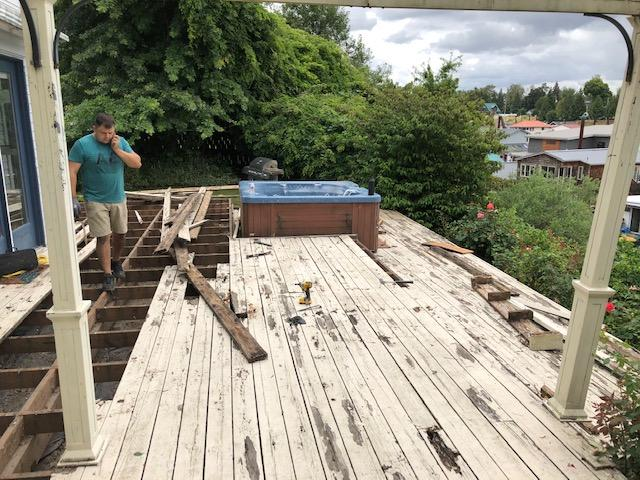 Deck Restoration in Portland, OR - Before Photo