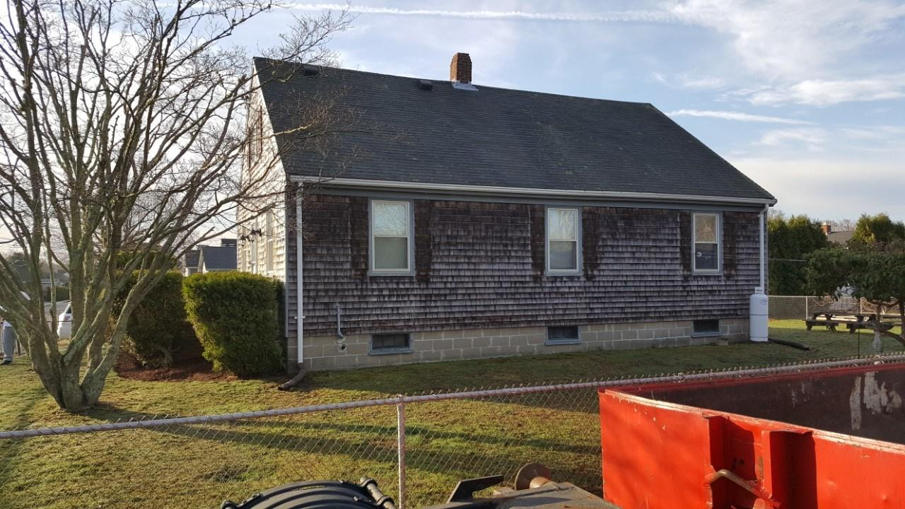 Vinyl Siding Install for a Home in South Dartmouth,MA - Before Photo